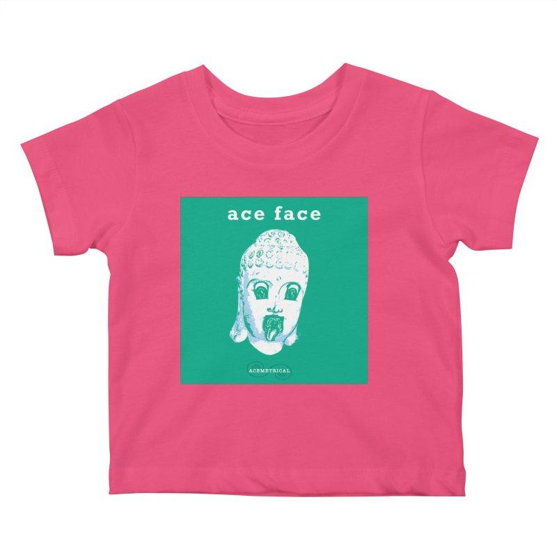 ACE FACE Buddha [AQUAMARINE GREEN] - ACEMETRICAL Kids Baby T-Shirt by ACEMETRICAL ( / ) Disc Golf
