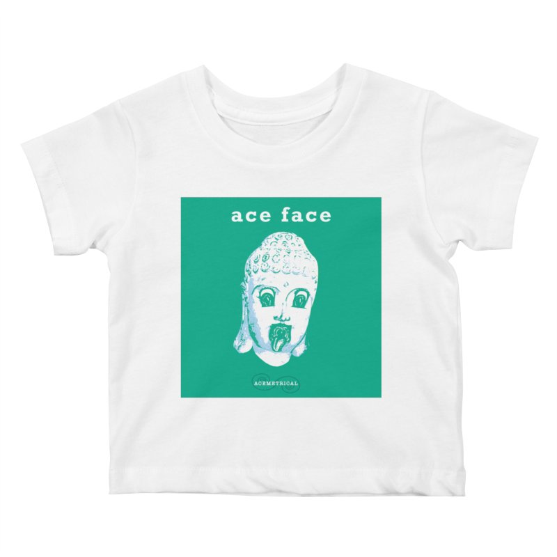 ACE FACE Buddha [AQUAMARINE GREEN] - ACEMETRICAL Kids Baby T-Shirt by ACEMETRICAL ( / ) Disc Golf