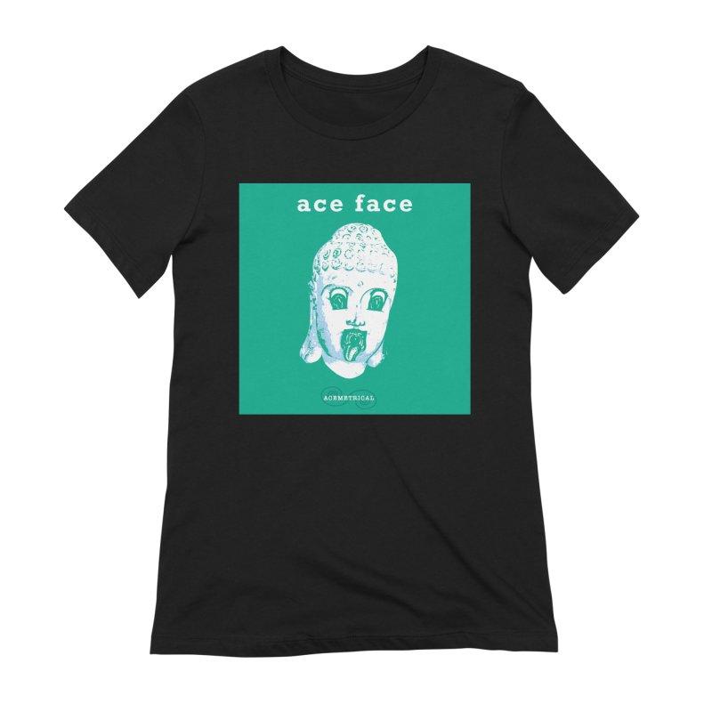 ACE FACE Buddha [AQUAMARINE GREEN] - ACEMETRICAL Women's T-Shirt by ACEMETRICAL ( / ) Disc Golf