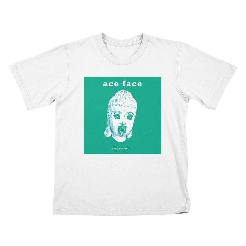 ACE FACE Buddha [AQUAMARINE GREEN] - ACEMETRICAL Kids T-Shirt by ACEMETRICAL ( / ) Disc Golf