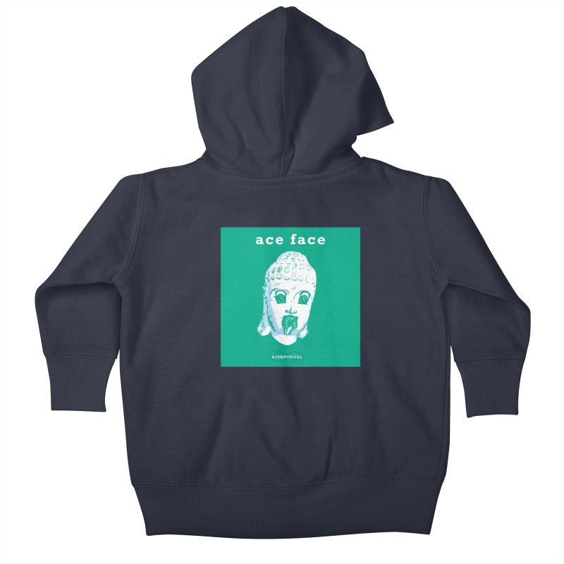 ACE FACE Buddha [AQUAMARINE GREEN] - ACEMETRICAL Kids Baby Zip-Up Hoody by ACEMETRICAL ( / ) Disc Golf