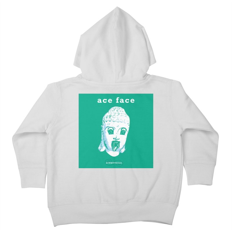 ACE FACE Buddha [AQUAMARINE GREEN] - ACEMETRICAL Kids Toddler Zip-Up Hoody by ACEMETRICAL ( / ) Disc Golf