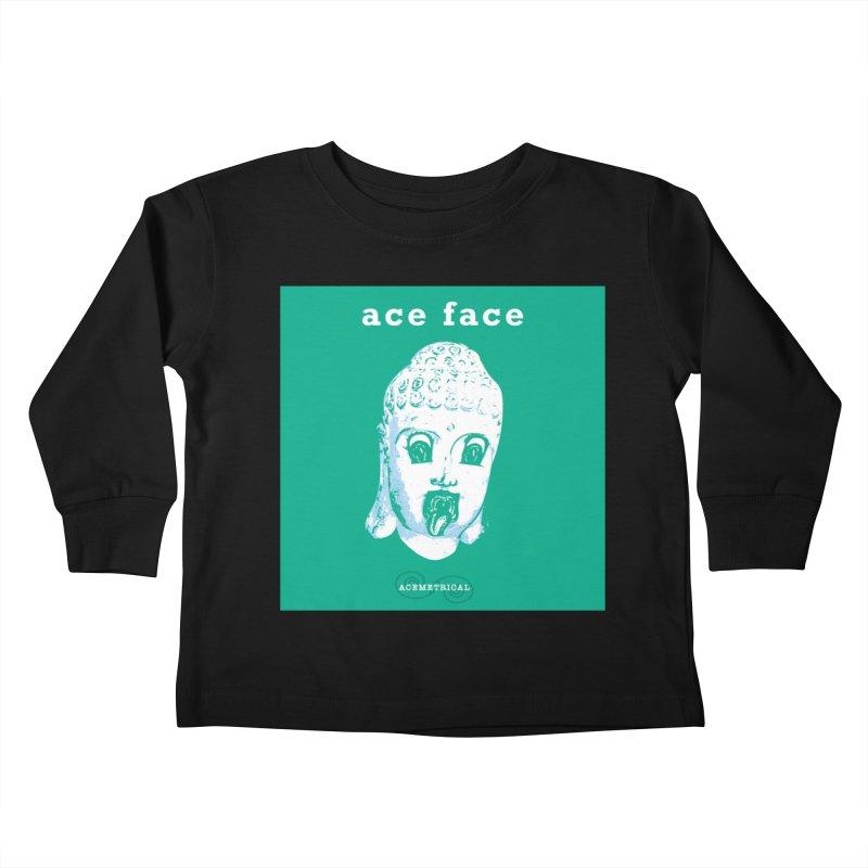 ACE FACE Buddha [AQUAMARINE GREEN] - ACEMETRICAL Kids Toddler Longsleeve T-Shirt by ACEMETRICAL ( / ) Disc Golf