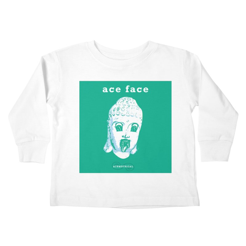 ACE FACE Buddha [AQUAMARINE GREEN] - ACEMETRICAL Kids Toddler Longsleeve T-Shirt by ACEMETRICAL ( / ) Disc Golf