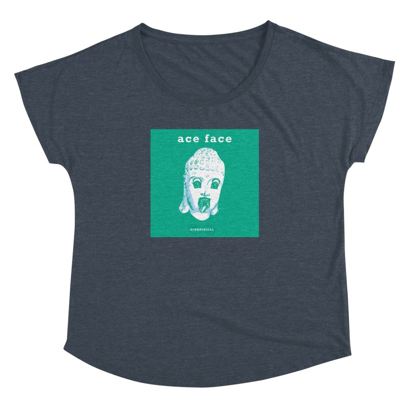 ACE FACE Buddha [AQUAMARINE GREEN] - ACEMETRICAL Women's Dolman Scoop Neck by ACEMETRICAL ( / ) Disc Golf