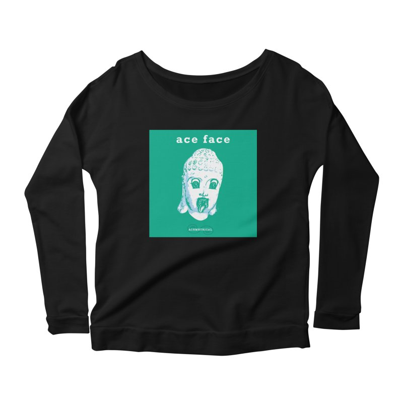 ACE FACE Buddha [AQUAMARINE GREEN] - ACEMETRICAL Women's Longsleeve T-Shirt by ACEMETRICAL ( / ) Disc Golf