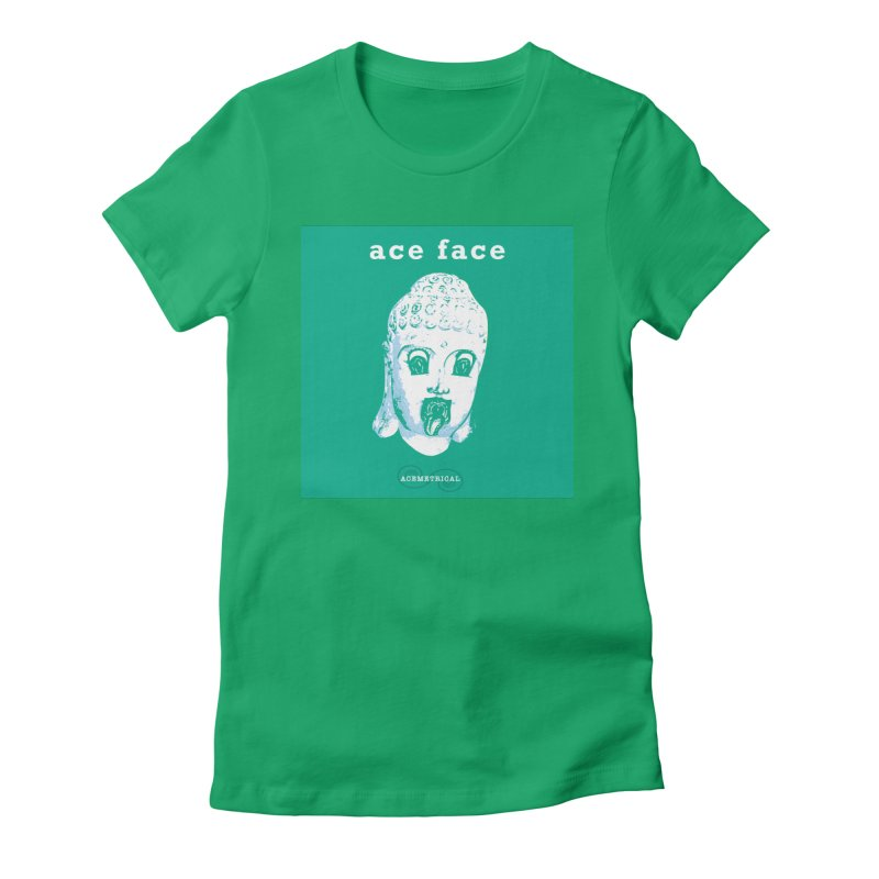 ACE FACE Buddha [AQUAMARINE GREEN] - ACEMETRICAL Women's Fitted T-Shirt by ACEMETRICAL ( / ) Disc Golf