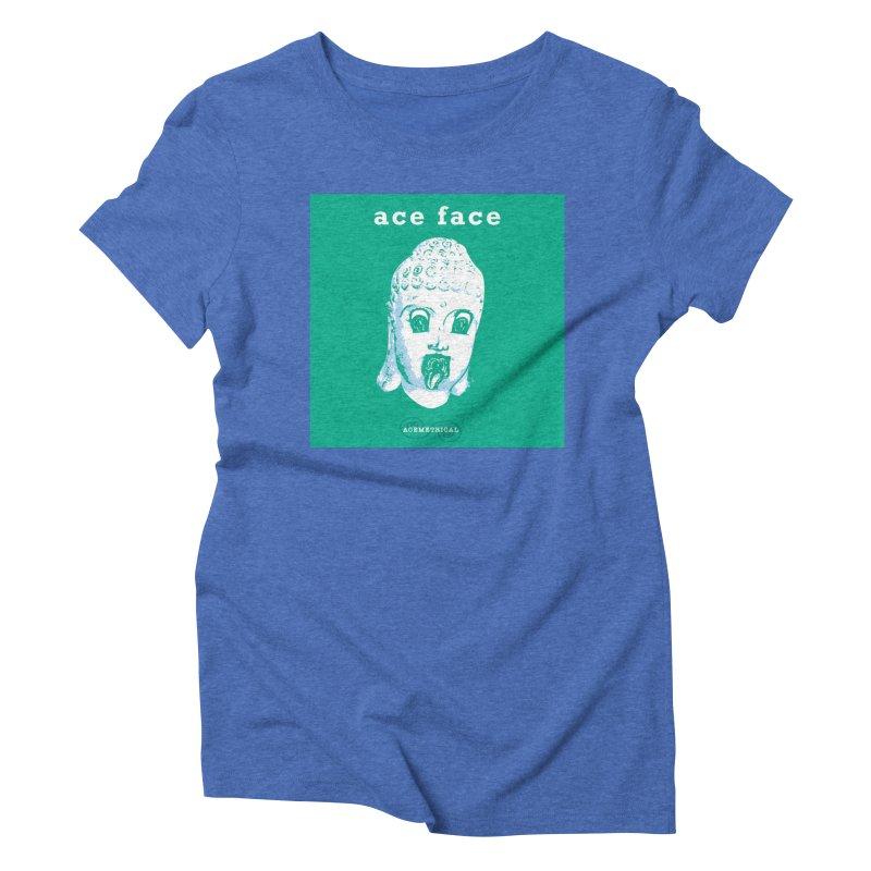 ACE FACE Buddha [AQUAMARINE GREEN] - ACEMETRICAL Women's Triblend T-Shirt by ACEMETRICAL ( / ) Disc Golf