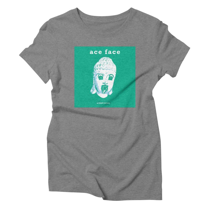 ACE FACE Buddha [AQUAMARINE GREEN] - ACEMETRICAL Women's Triblend T-Shirt by ACEMETRICAL ( / ) Disc Golf