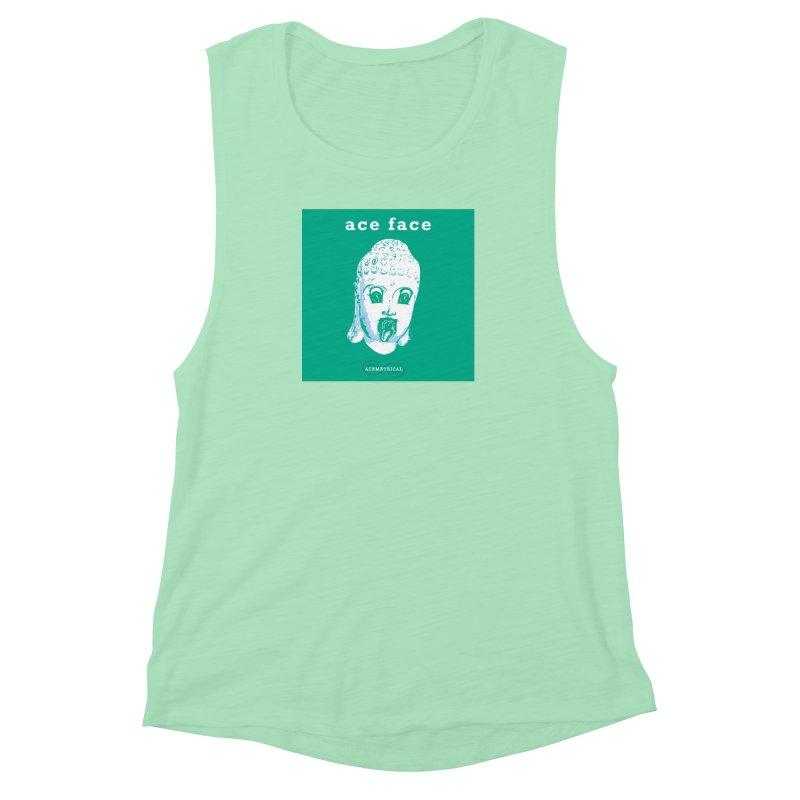 ACE FACE Buddha [AQUAMARINE GREEN] - ACEMETRICAL Women's Muscle Tank by ACEMETRICAL ( / ) Disc Golf