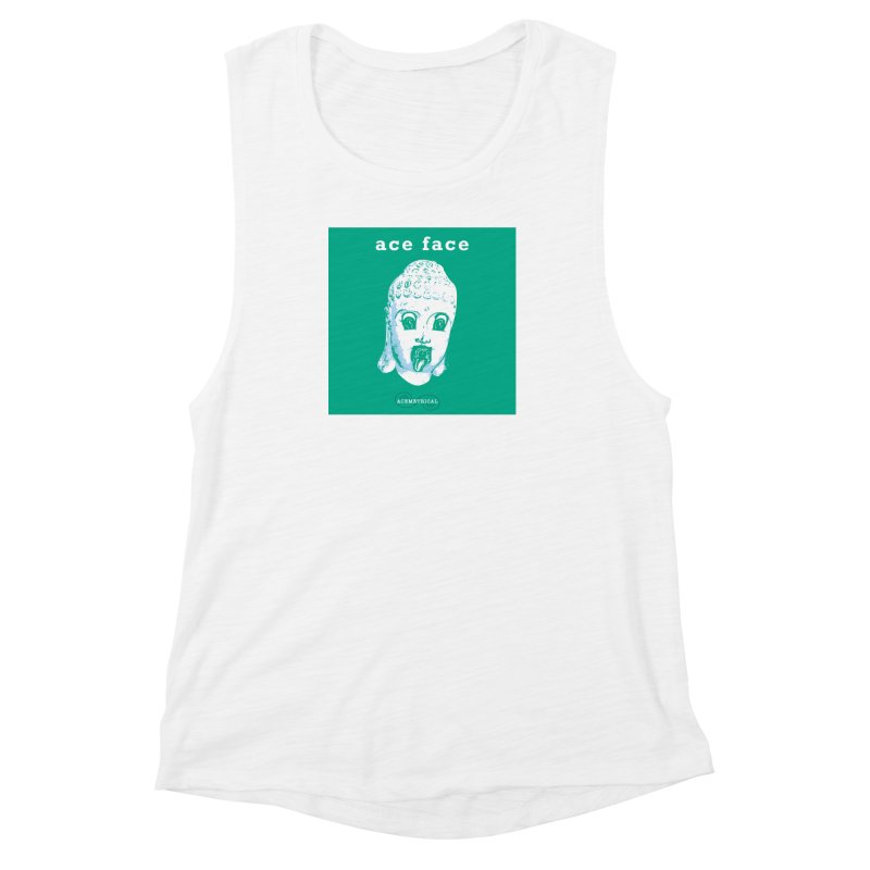 ACE FACE Buddha [AQUAMARINE GREEN] - ACEMETRICAL Women's Muscle Tank by ACEMETRICAL ( / ) Disc Golf