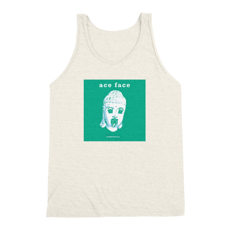 ACE FACE Buddha [AQUAMARINE GREEN] - ACEMETRICAL Men's Triblend Tank by ACEMETRICAL ( / ) Disc Golf