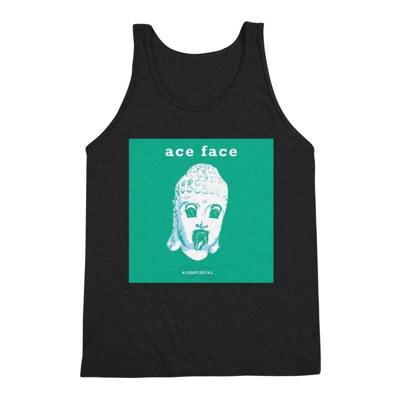 ACE FACE Buddha [AQUAMARINE GREEN] - ACEMETRICAL Men's Triblend Tank by ACEMETRICAL ( / ) Disc Golf