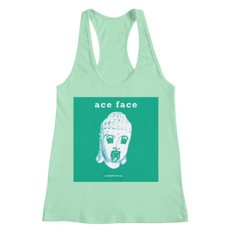 ACE FACE Buddha [AQUAMARINE GREEN] - ACEMETRICAL Women's Racerback Tank by ACEMETRICAL ( / ) Disc Golf