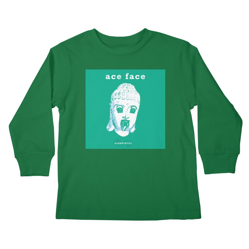 ACE FACE Buddha [AQUAMARINE GREEN] - ACEMETRICAL Kids Longsleeve T-Shirt by ACEMETRICAL ( / ) Disc Golf