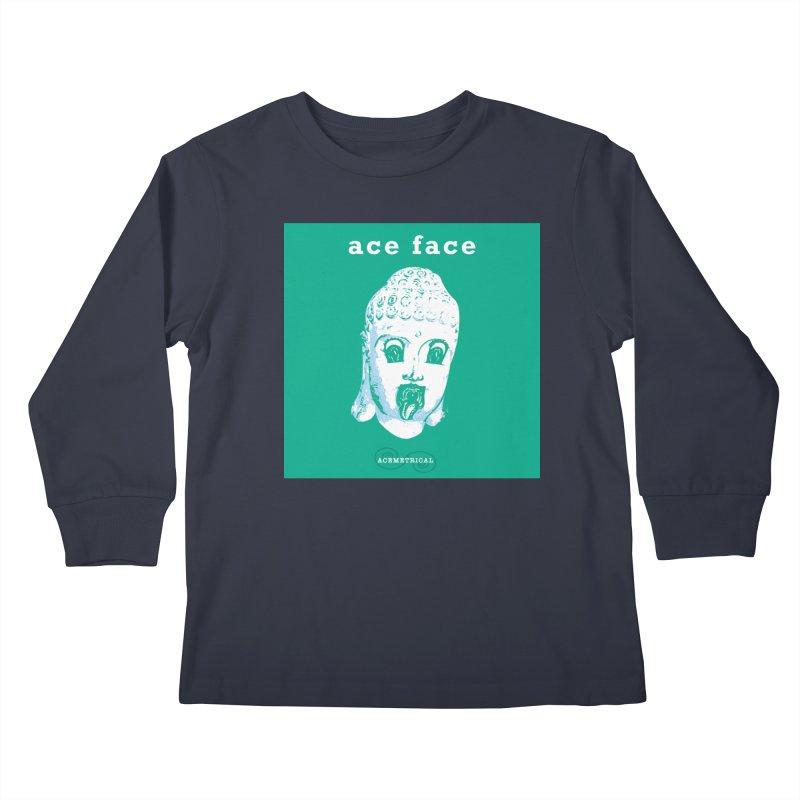 ACE FACE Buddha [AQUAMARINE GREEN] - ACEMETRICAL Kids Longsleeve T-Shirt by ACEMETRICAL ( / ) Disc Golf