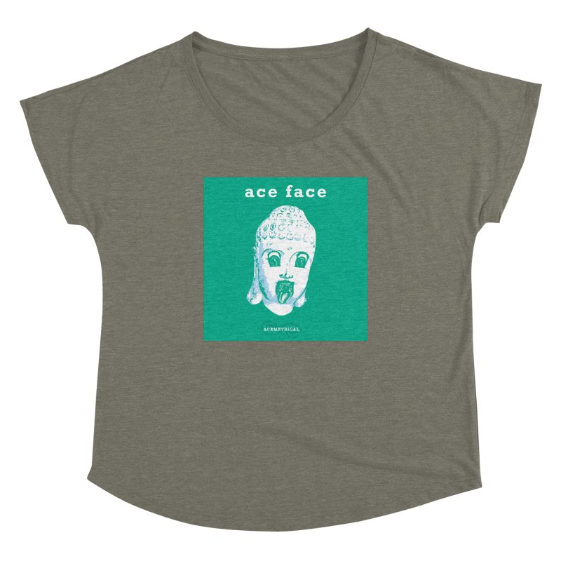 ACE FACE Buddha [AQUAMARINE GREEN] - ACEMETRICAL Women's Scoop Neck by ACEMETRICAL ( / ) Disc Golf