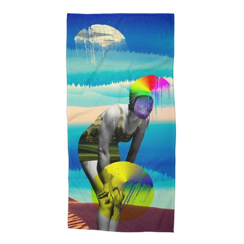 Mrs. Flubber Accessories Beach Towel by achitafille's Artist Shop