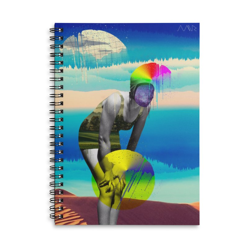 Mrs. Flubber Accessories Lined Spiral Notebook by achitafille's Artist Shop