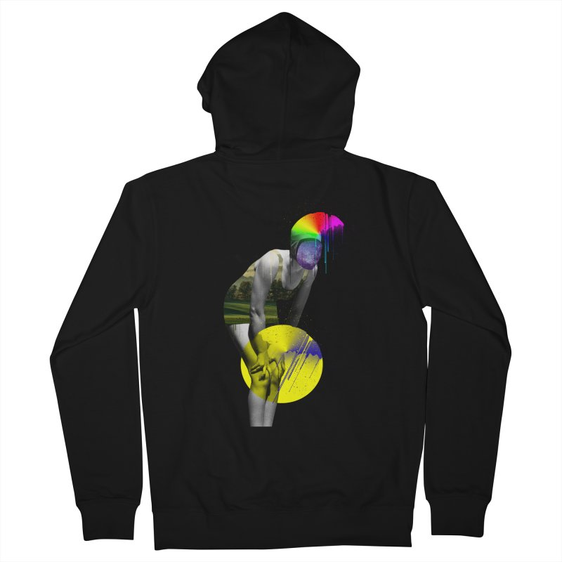 Mrs. Flubber Men's French Terry Zip-Up Hoody by achitafille's Artist Shop