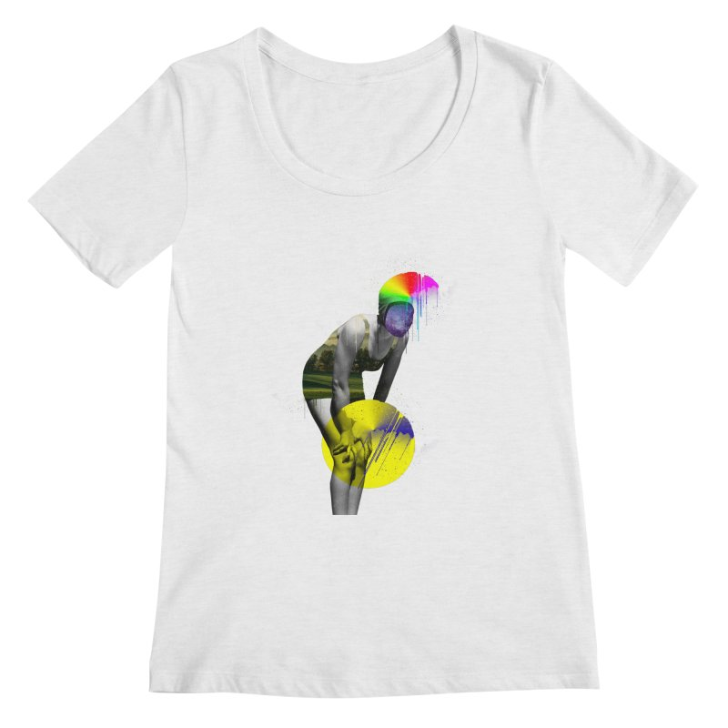 Mrs. Flubber Women's Regular Scoop Neck by achitafille's Artist Shop