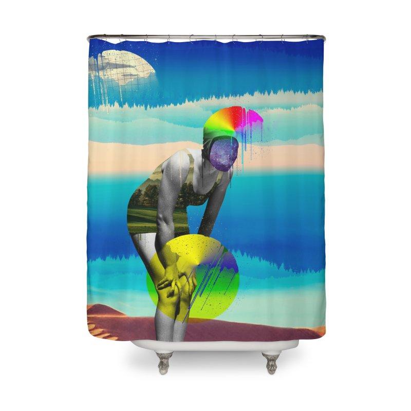 Mrs. Flubber Home Shower Curtain by achitafille's Artist Shop