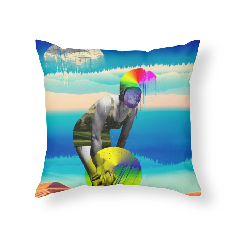 Mrs. Flubber Home Throw Pillow by achitafille's Artist Shop