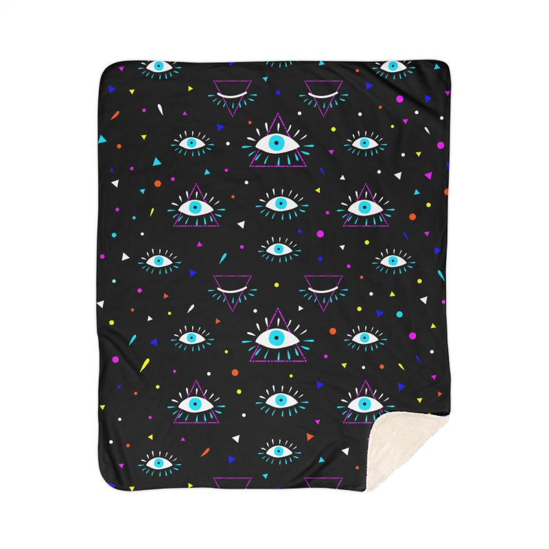 Third Eye Home Sherpa Blanket Blanket by achitafille's Artist Shop