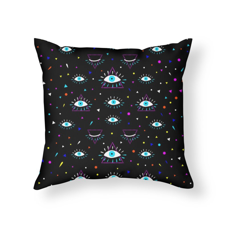 Third Eye Home Throw Pillow by achitafille's Artist Shop