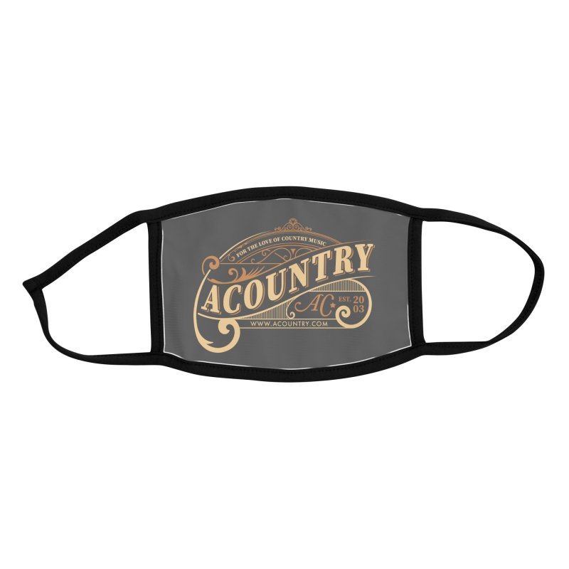 ACountry - For The Love Of Country Music Accessories Face Mask by ACountry General Store