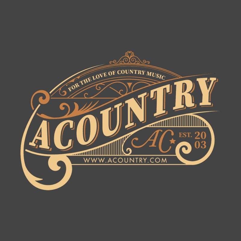 ACountry - For The Love Of Country Music Men's T-Shirt by ACountry General Store
