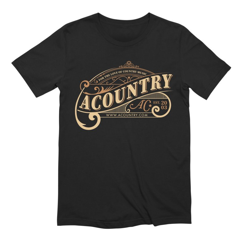 ACountry - For The Love Of Country Music Men's Extra Soft T-Shirt by ACountry General Store