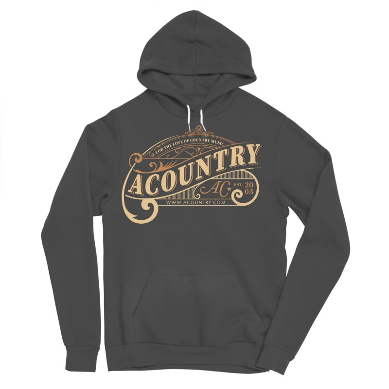 ACountry - For The Love Of Country Music Men's Sponge Fleece Pullover Hoody by ACountry General Store