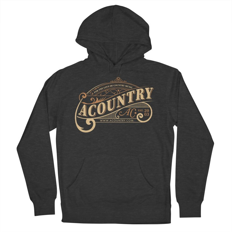 ACountry - For The Love Of Country Music Men's French Terry Pullover Hoody by ACountry General Store
