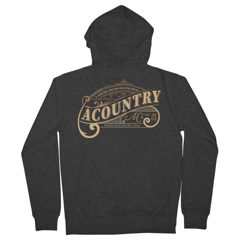 ACountry - For The Love Of Country Music Women's French Terry Zip-Up Hoody by ACountry General Store