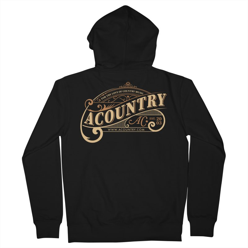 ACountry - For The Love Of Country Music Men's Zip-Up Hoody by ACountry General Store