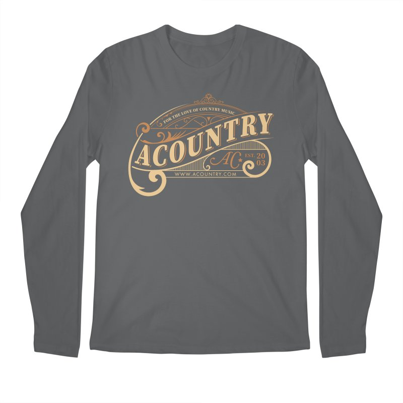ACountry - For The Love Of Country Music Men's Longsleeve T-Shirt by ACountry General Store