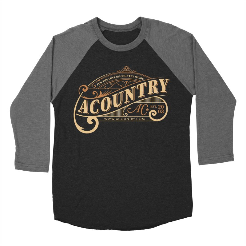 ACountry - For The Love Of Country Music Men's Baseball Triblend Longsleeve T-Shirt by ACountry General Store