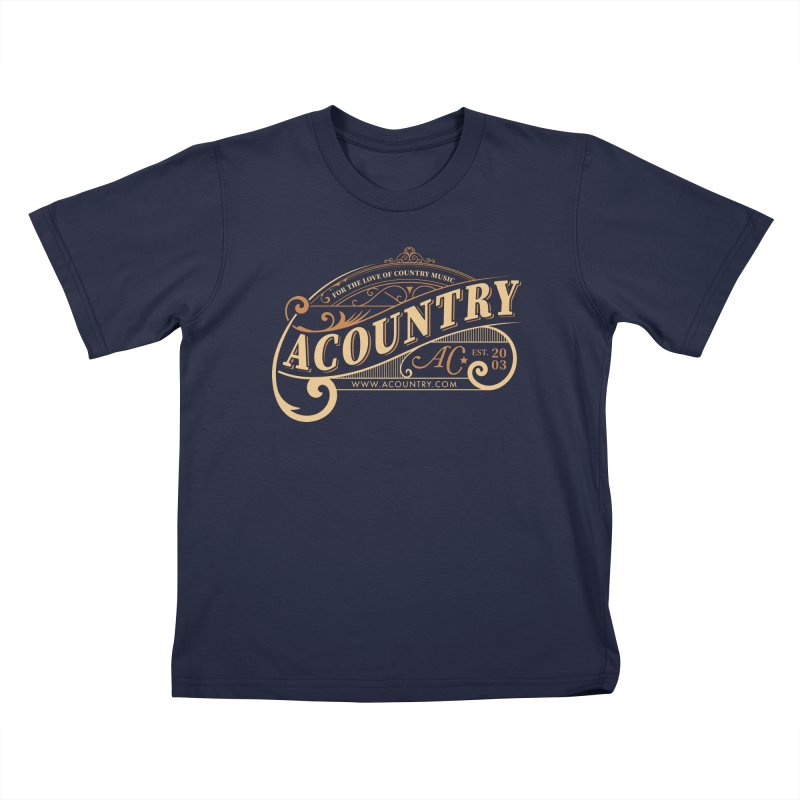 ACountry - For The Love Of Country Music Kids T-Shirt by ACountry General Store