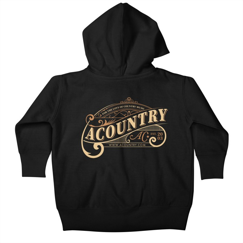 ACountry - For The Love Of Country Music Kids Baby Zip-Up Hoody by ACountry General Store