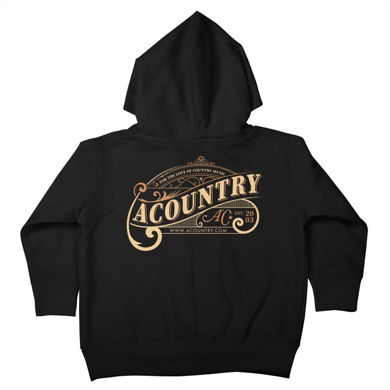 ACountry - For The Love Of Country Music Kids Toddler Zip-Up Hoody by ACountry General Store