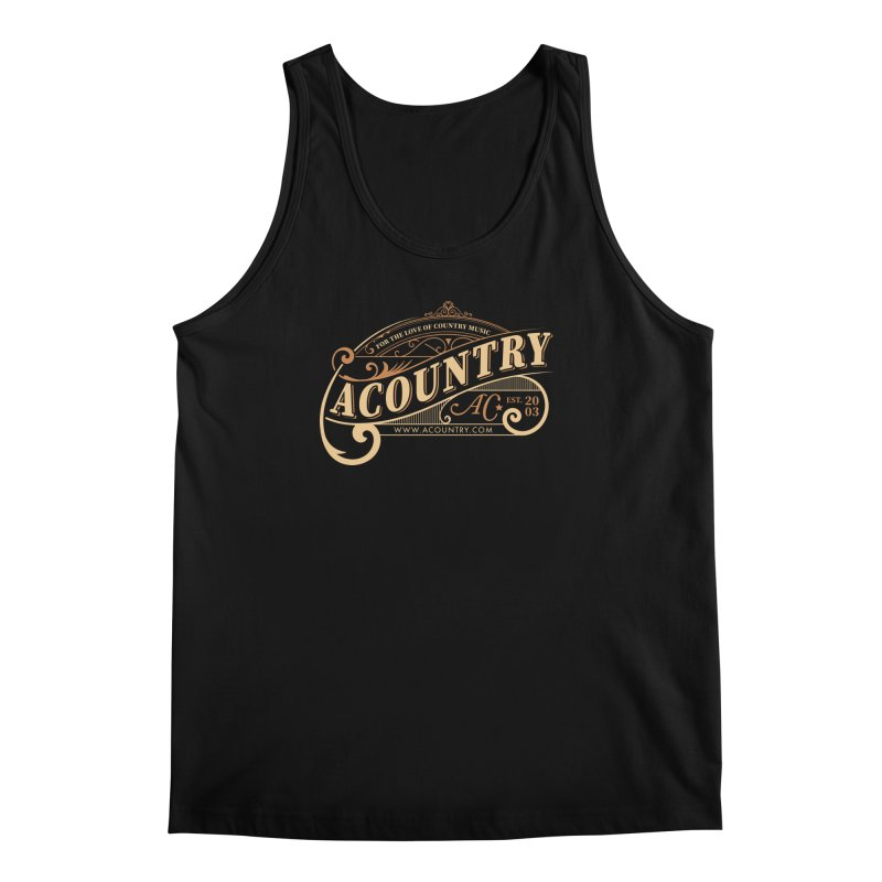 ACountry - For The Love Of Country Music Men's Regular Tank by ACountry General Store