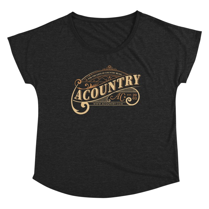 ACountry - For The Love Of Country Music Women's Scoop Neck by ACountry General Store