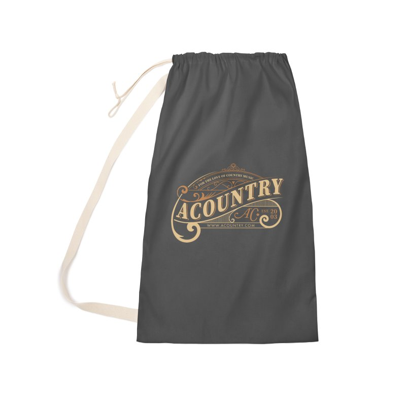 ACountry - For The Love Of Country Music Accessories Laundry Bag Bag by ACountry General Store