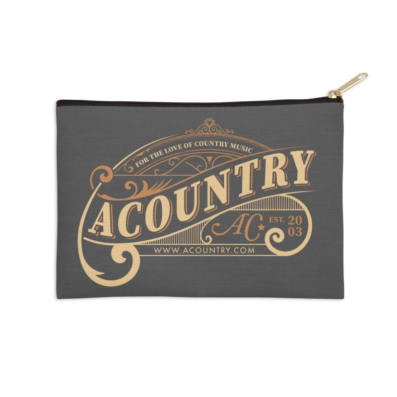 ACountry - For The Love Of Country Music Accessories Zip Pouch by ACountry General Store