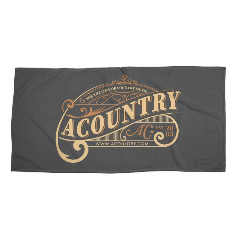 ACountry - For The Love Of Country Music Accessories Beach Towel by ACountry General Store