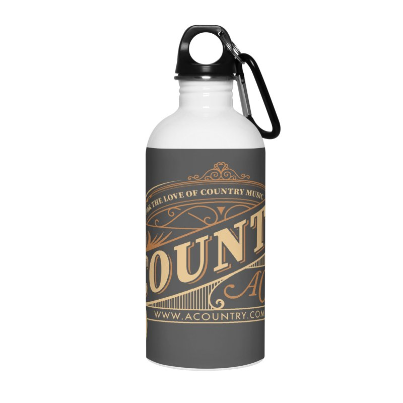 ACountry - For The Love Of Country Music Accessories Water Bottle by ACountry General Store