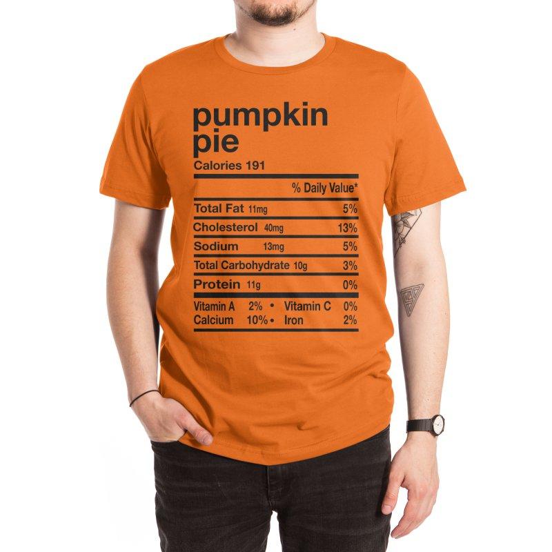 Funny Pumpkin Pie Nutrition Facts Thanksgiving Matching Men's T-Shirt by Acous's Artist Shop