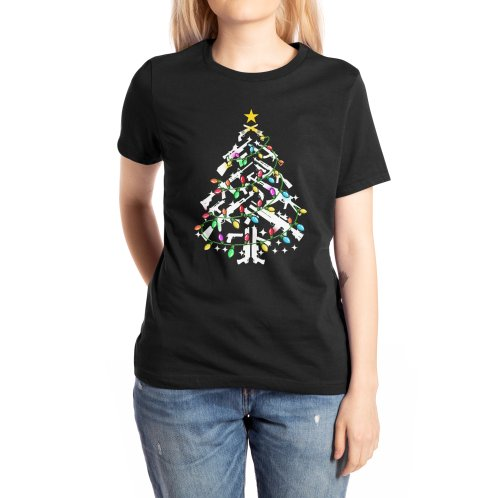 image for Guns Christmas Tree Ornament Xmas T-shirt