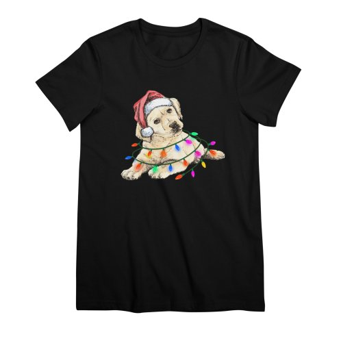 image for Labrador Retriever Dog Christmas Light T-shirt For Mens Womens Kids